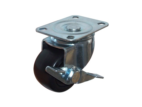 Low Profile Caster Swivel Plate with Side Brake
